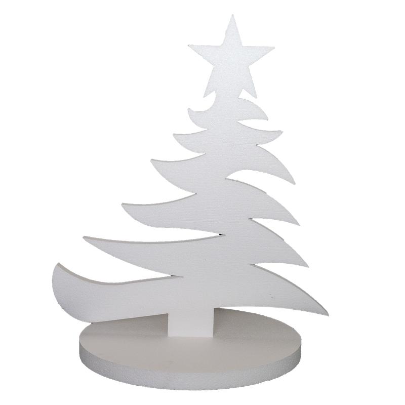 Decorazioni Natalizie Con Il Polistirolo.Albero Di Natale Ad Incastro Con Base Piana Shop Poliplast Polistirolo